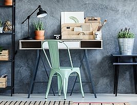 Loft Office With Vintage Decor For Creative Working
